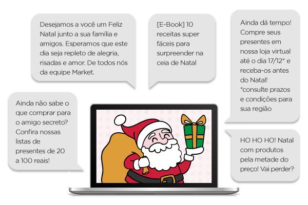 Exemplos de Mensagens de Natal Para Enviar Por E-mail Marketing