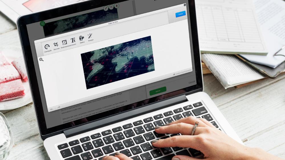 Como editar imagens no Drag and Drop do Iagentemail?