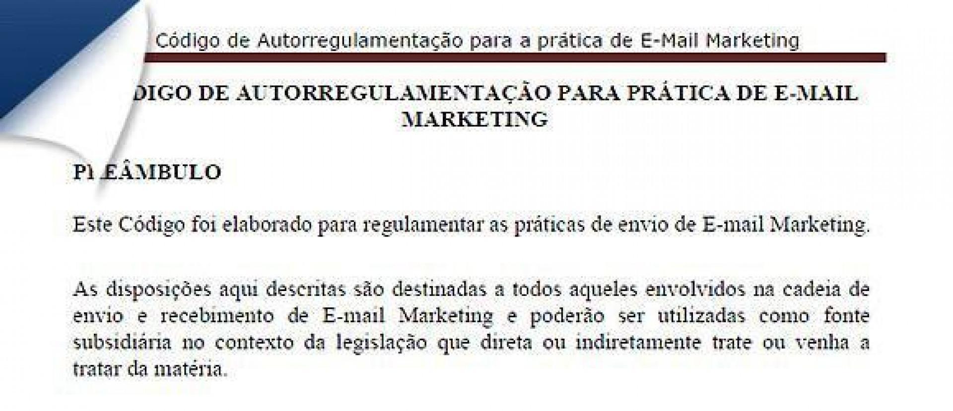 Email Marketing ganha código de conduta