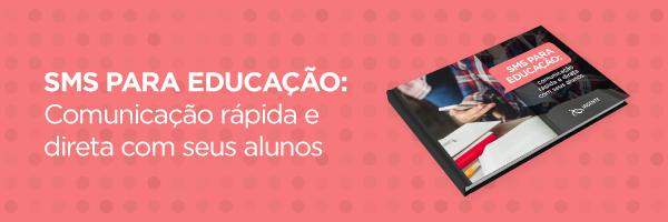 Banner para baixar e-books sobre SMS para educação: como se comunicar com alunos