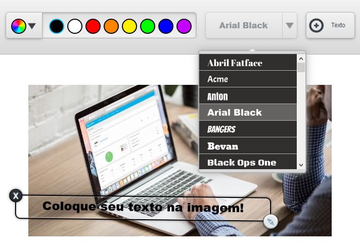 Adicionar texto em uma imagem - Editor de email IAGENTE