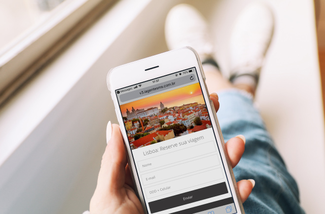 Landing Page Mobile Para Enviar Por SMS